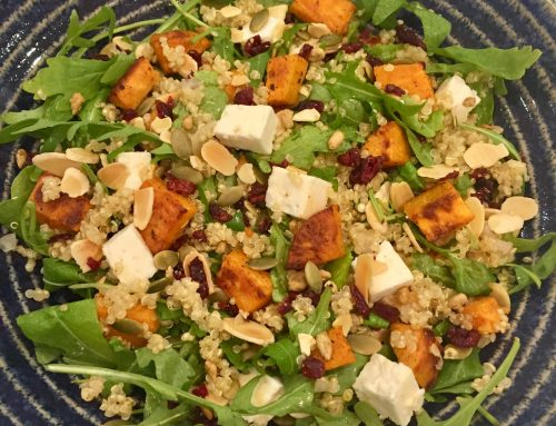 Sweet Potato, Quinoa & Feta Salad – a filling winter salad, ideal for meal prep