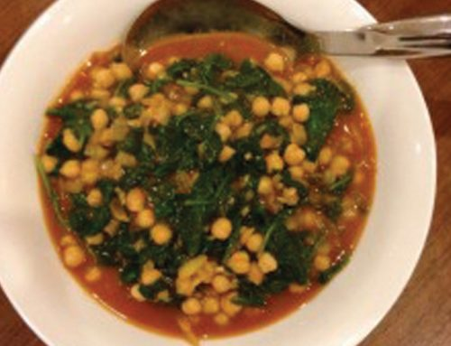 Spiced Chick Peas With Baby Spinach