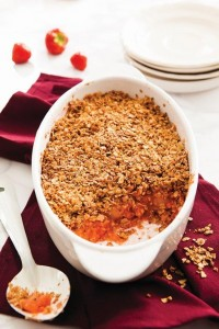 apple strawberry crumble