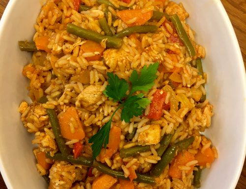 One Pot Spanish Chicken & Rice: A Tasty Nutritionally Balanced Meal