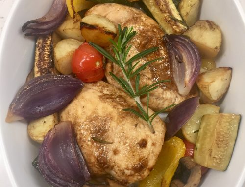 Balsamic Chicken & Roasted Veg – One Tray Oven Meal